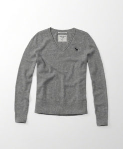 Blusa Abercrombie & Fitch Cashmere Icon V-neck Sweater