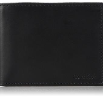 4191da470 Carteira Calvin Klein Men's Rfid Blocking Leather Bookfold Wallet With Key  ...