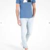 Camiseta Armani Exchange Geometric Logo Azul 2