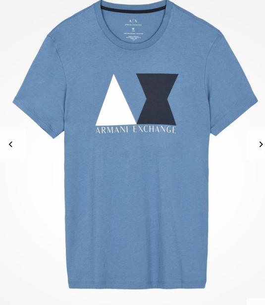 Camiseta Armani Exchange Geometric Logo Azul - EuEnvio Importados ... 5456943289558