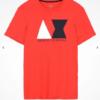 Camiseta Armani Exchange Geometric Logo Vermelha 3