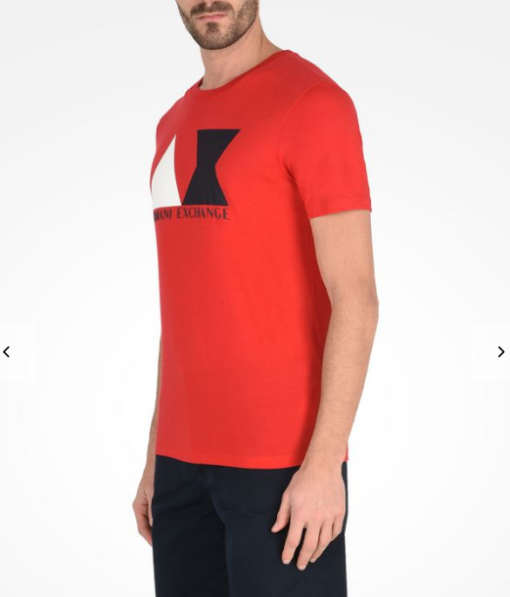 Camiseta Armani Exchange Geometric Logo Vermelha
