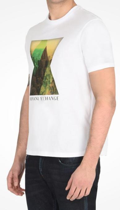 Camiseta Armani Exchange Cityscape Tee Branca - EuEnvio Importados ... dfe06d5a6a0a5