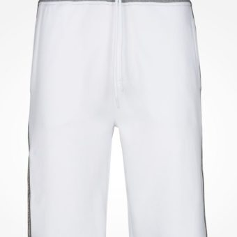 Bermuda AX Color Block Logo Shorts Branca