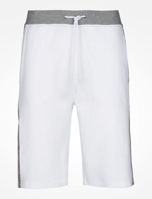 Bermuda AX Color Block Logo Shorts Branca