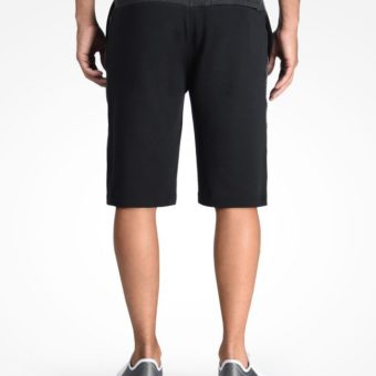 Bermuda AX Color Block Logo Shorts Preta