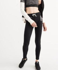 Calça A&F Fleece Leggings Preta