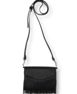 Bolsa Aeropostale Fringe Tech Crossbody Bag Preta