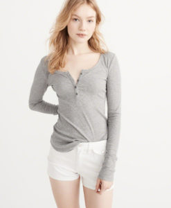 Blusa Abercrombie & Fitch Long Sleeve Henley