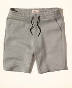 Bermuda Neoprene Jogger Shorts Cinza