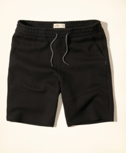 Bermuda Neoprene Jogger Shorts Preta