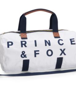 Bolsa Aeropostale Prince & Fox Preppy Canvas Duffel Bag Branca