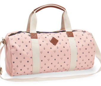 Bolsa Aeropostale Prince & Fox Preppy Canvas Duffel Bag Rosa