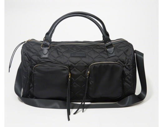Bolsa Quilted Satin Duffle Bag