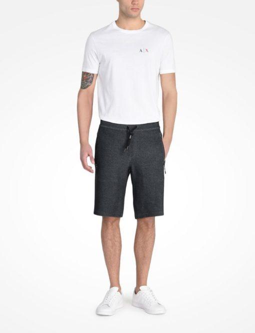 Bermuda AX Reflective Logo Shorts Preta
