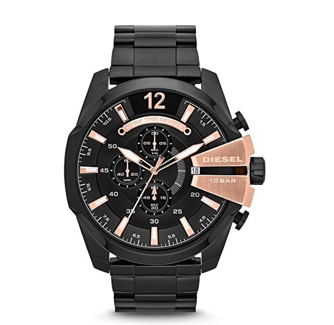 e247983cffa Relógio Diesel DZ4309 Mega Chief Black Ip Watch - EuEnvio Importados ...
