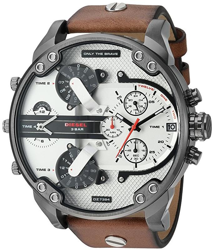 96c0fd36c64 Relógio Diesel DZ7394 Mr. Daddy 2.0 Gunmetal IP Brown - EuEnvio ...
