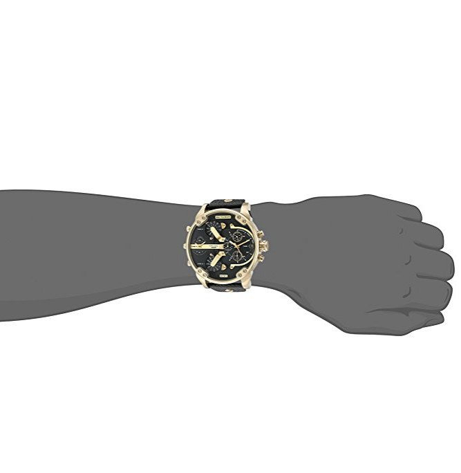 135f76699e980 Relógio Diesel Mr. Daddy 2.0 Two Hand Leather - EuEnvio Importados ...