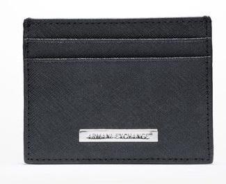 Carteira Armani Exchange Saffiano Cardcase