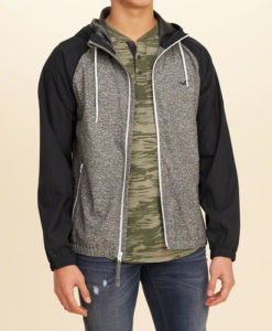 Agasalho Hollister Stretch Colorblock Nylon Windbreaker
