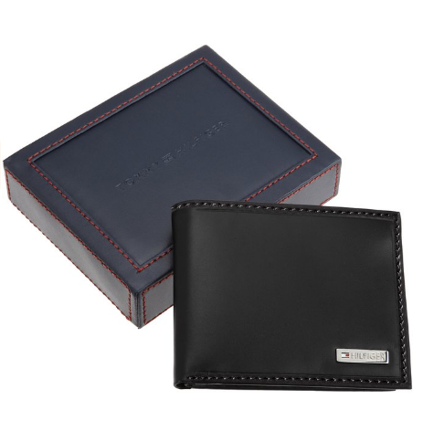 67408c09e Tommy Hilfiger Leather Men's Multi-Card Passcase Bifold Wallet with  Removable Card Holder