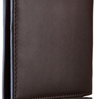 24821e3e3aa7e Tommy Hilfiger Men s Donny Genuine Leather Double Billfold Passcase Wallet  ...