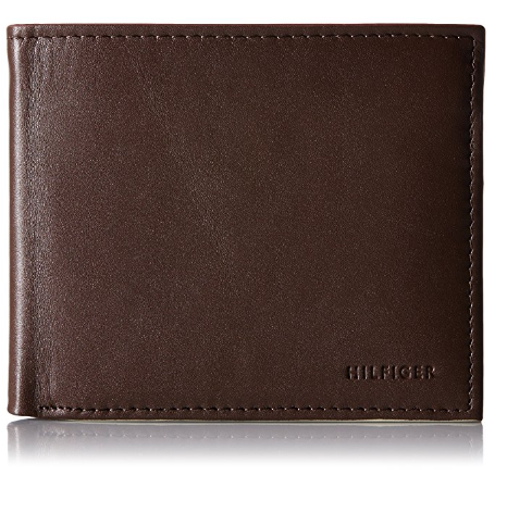7759e6ab4 Tommy Hilfiger Men's Donny Genuine Leather Double Billfold Passcase Wallet