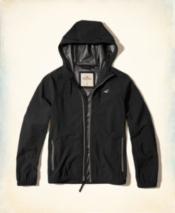 Agasalho Hollister Unlined Stretch Nylon Windbreaker