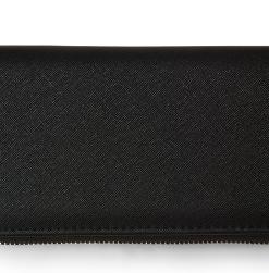 Bolsa Aeropostale Zippered Faux Leather Wallet Preta