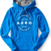 Aero Authentic Circle Pullover Hoodie Azul