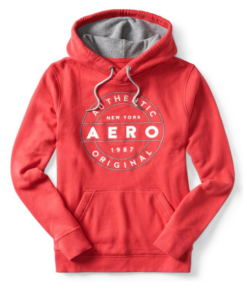 Agasalho Aero Authentic Circle Pullover Hoodie Vermelha