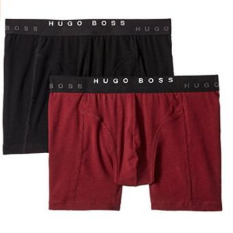 Cueca Hugo Boss  Men's 2-Pack Cyclist Trunk