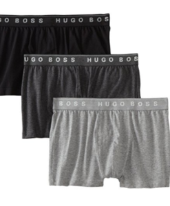 Cueca Hugo Boss BOSS Men's 3-Pack Cotton Trunk Cinza