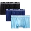 Cueca Hugo Boss Men's Cotton Stretch Boxer Brief, Pack of 3 Azul