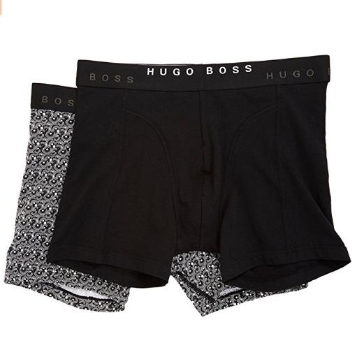 6ab303e057801 Cueca Hugo Boss Mens Boxer Brief 2-Pack Print Preta - EuEnvio ...