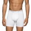 Cueca Calvin Klein Men's 3-Pack Microfiber Stretch Boxer Brief Branca