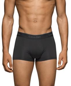 Cueca Calvin Klein Men's 3-Pack Microfiber Stretch Trunk Preta