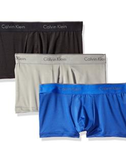 Cueca Calvin Klein Men's 3-Pack Microfiber Stretch Trunk 3Cores