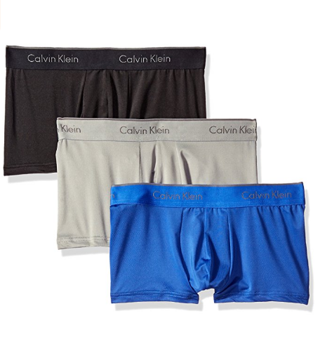 Cueca  Calvin Klein Men's 3-Pack Microfiber Stretch Trunk 3Cores