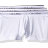 Cueca Calvin Klein Men's 3-Pack Microfiber Stretch Trunk Branca