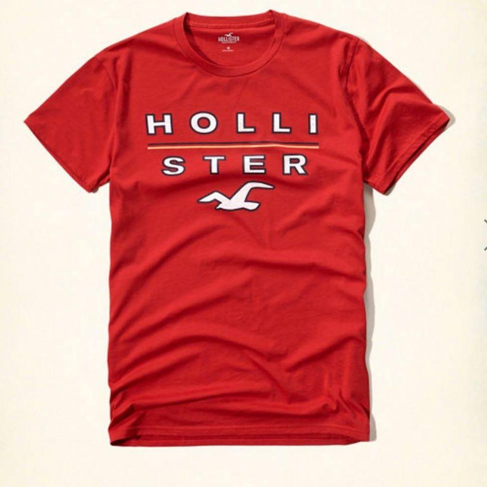 a0eb8cabf6 Camiseta Hollister Vermelha M - EuEnvio Importados  Relógios