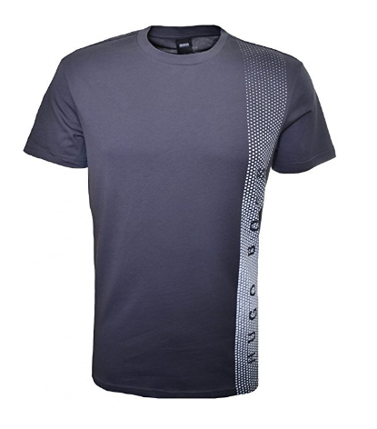 Camisetas Hugo Boss Men s Hugo Boss Men s Slim Fit Charcoal Printed ... e084df3832ad4