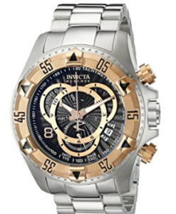 Invicta Men's 10998 Excursion Reserve Chronograph Black Textured Dial Stainless Steel Watch