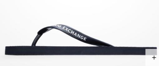 Chinelo Armani Exchange Printed azul escuro