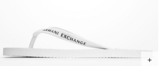 Chinelo Armani Exchange Printed branco