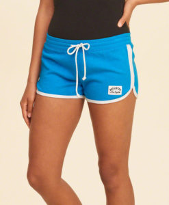 short holliter Curved Hem Terry Shorts azul