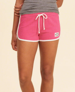 Short Holliter Curved Hem Terry Shorts rosa
