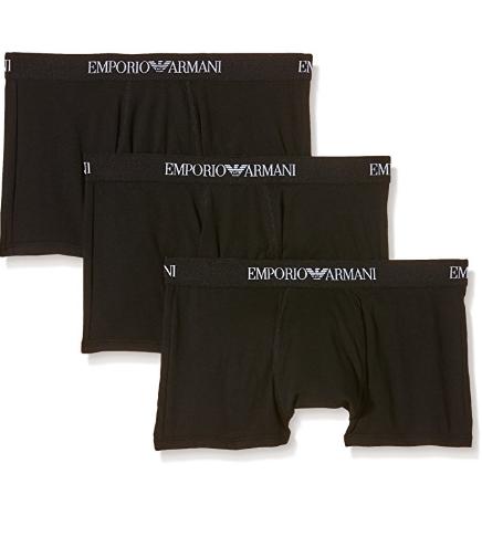 Emporio Armani 3-Pack Cotton Trunk