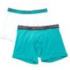 Cueca Emporio Armani Men's 2 Pack Cotton Boxer Brief Azul/Branca