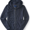 Heathered Piped Full-zip Hoodie Azul